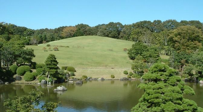 日本庭園 中央休憩所からの景色